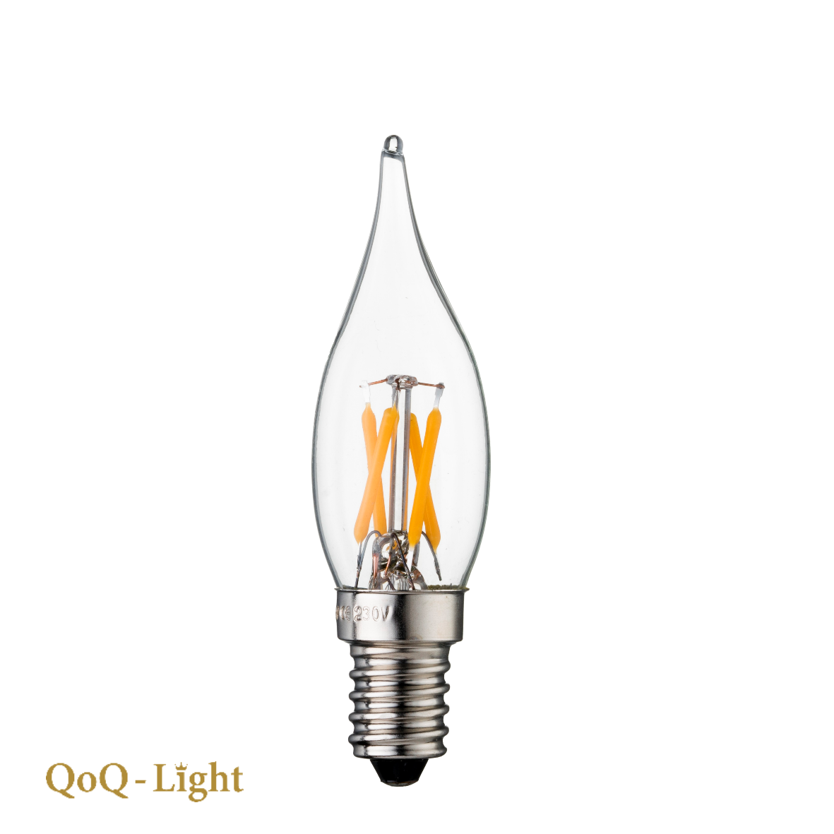 QOQ-Light Paleiskaars C24 Led 2 watt, Warmwit