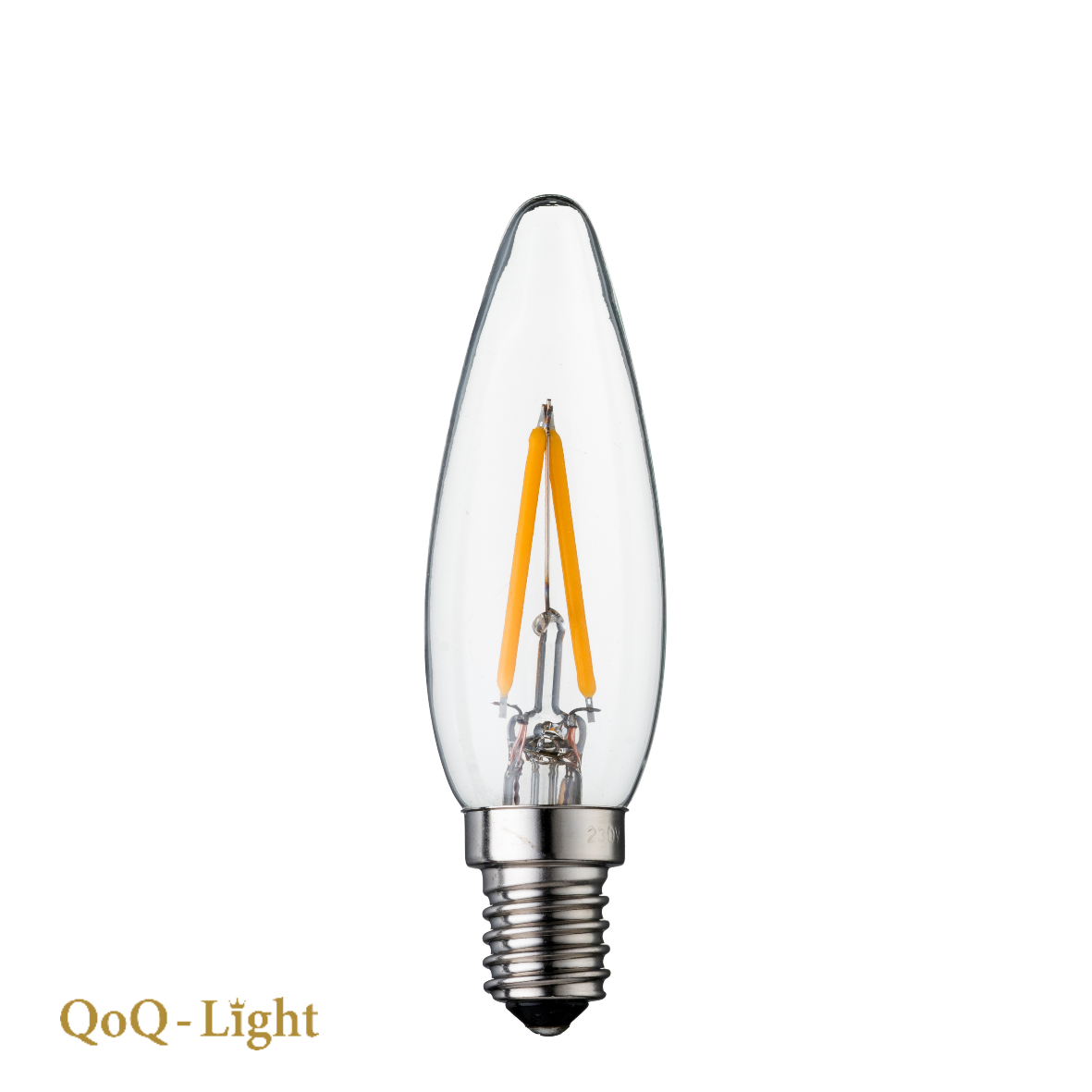 QOQ-Light PaleisKaars Led C26 2 watt Warmwit, lang